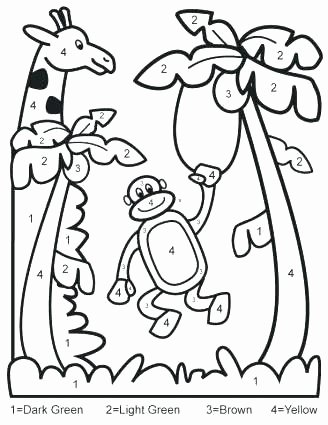 Easy Color by Number Worksheets Number Coloring for Kindergarten Album Sabadaphnecottage