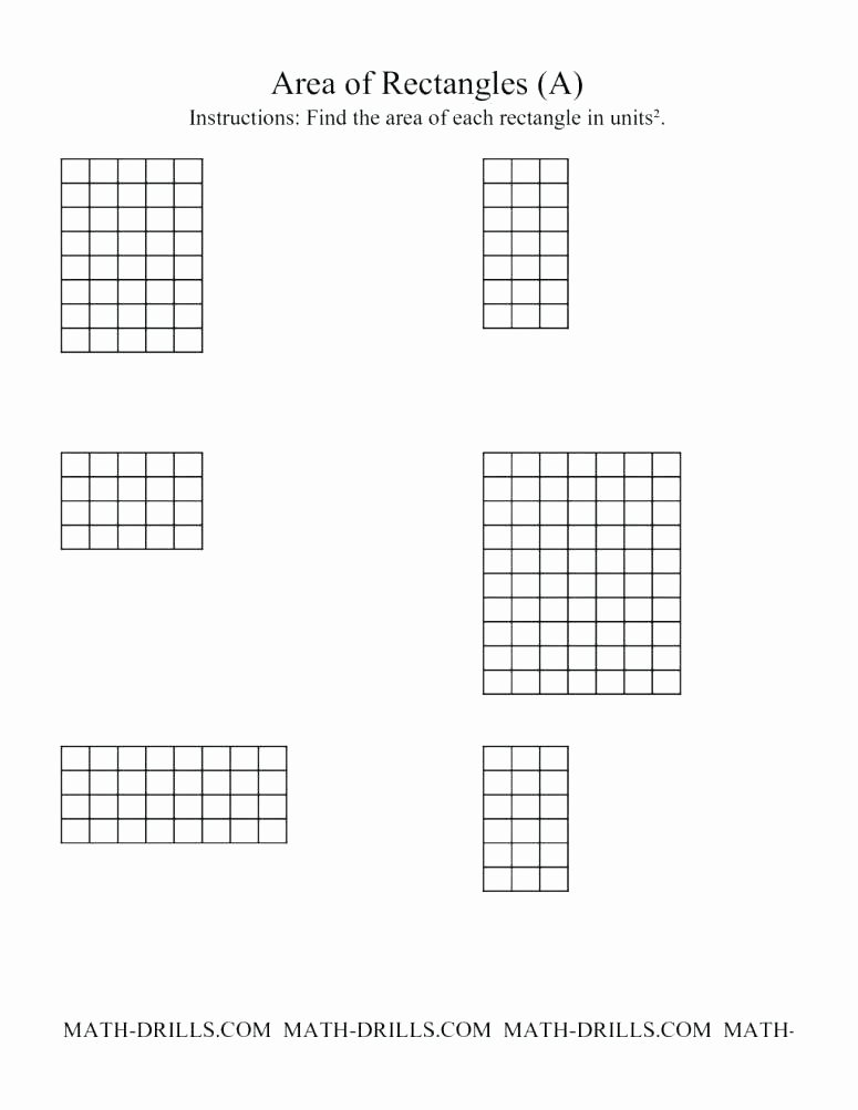 Easy Perimeter Worksheets area Worksheets Counting Square Units Free 3rd Grade Math