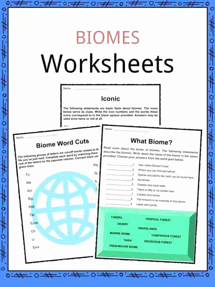 Ecology Worksheets Middle School Ecology Worksheets Facts Lesson Plans for High School