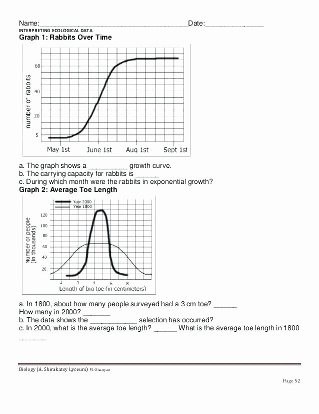 Ecology Worksheets Middle School Ecology Worksheets for High School