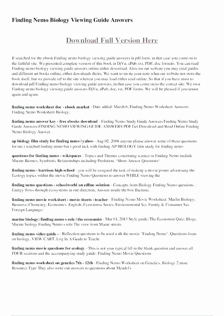 Ecosystem Worksheet Answer Key Luxury Free Ecosystem Worksheets Ecology for High School Biology