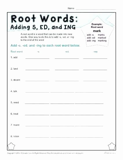 Ed and Ing Endings Worksheets Endings with Er and Est Worksheet Ed Worksheets Connect to