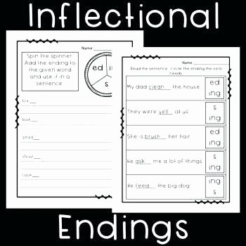 Ed and Ing Endings Worksheets Words Ending In Ed Worksheets