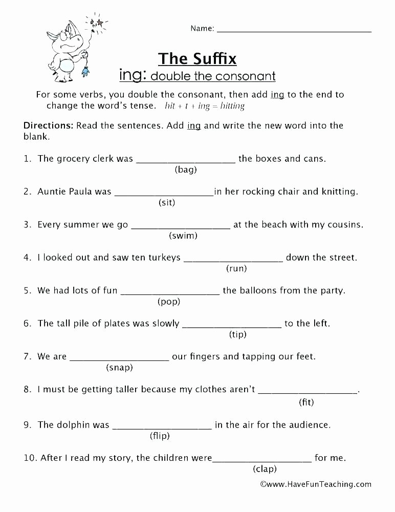 Ed and Ing Worksheets Endings with Er and Est Worksheet Ed Worksheets Connect to