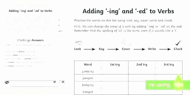 Ed and Ing Worksheets Free Worksheets Ed and Ends End Word sort Ing form the