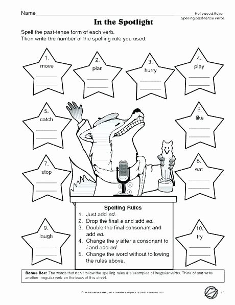 Ed and Ing Worksheets Worksheet Adjectives End In Ed and Activities Worksheets