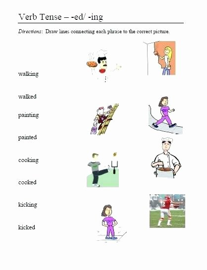Ed Ending Worksheets Adjectives In Ed and 1 Worksheet Worksheets Grade Ed and Ing