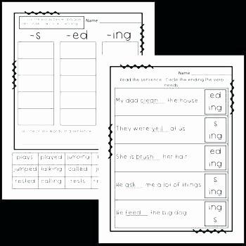 Ed Ending Worksheets Inflectional Endings Worksheets 2nd Grade