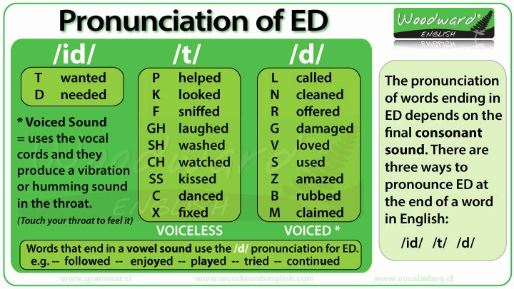 Ed Ending Worksheets Pronunciation Of Ed In English