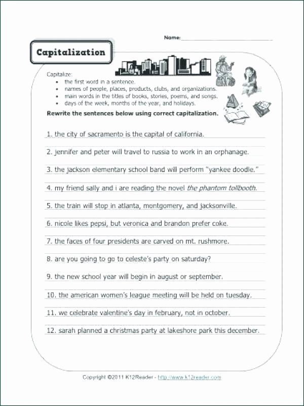 Editing and Proofreading Worksheets Paragraph Correction Worksheets Unique Daily Editing Grade 5