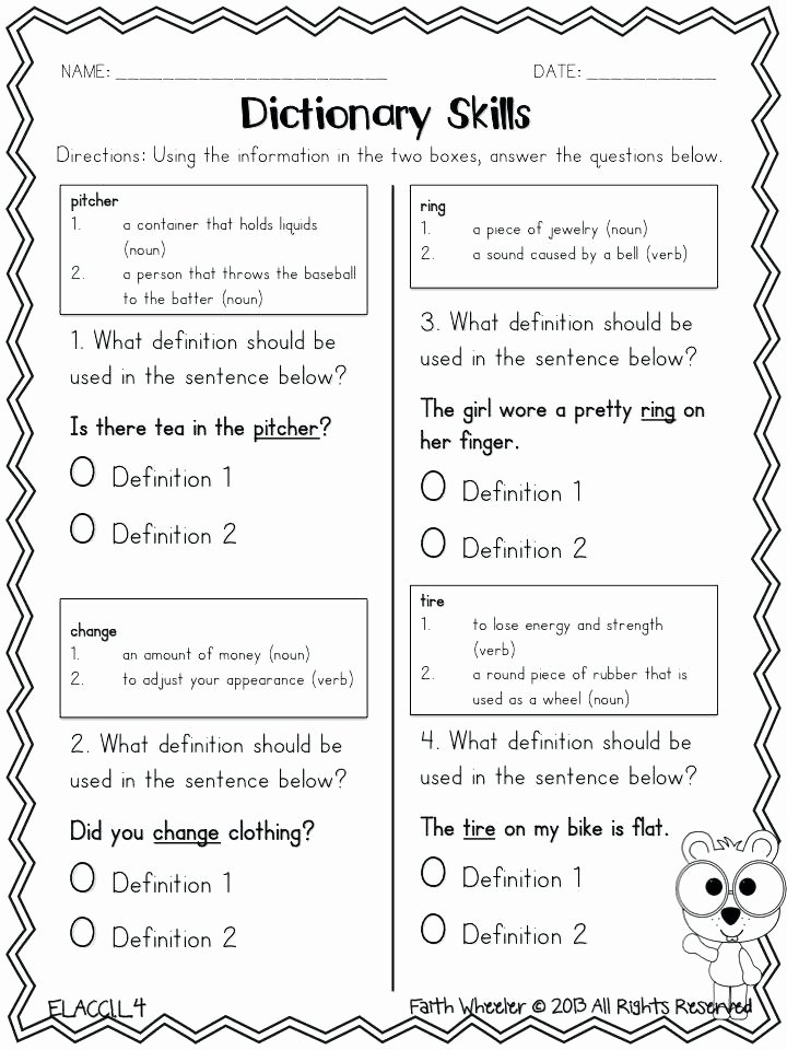 Editing Sentences 3rd Grade Dictionary Worksheets 3rd Grade Sentence Correction