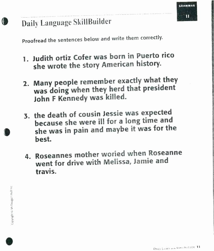 Editing Sentences 3rd Grade Proofreading Worksheets 5th Grade Paragraph Correction 5 Pdf