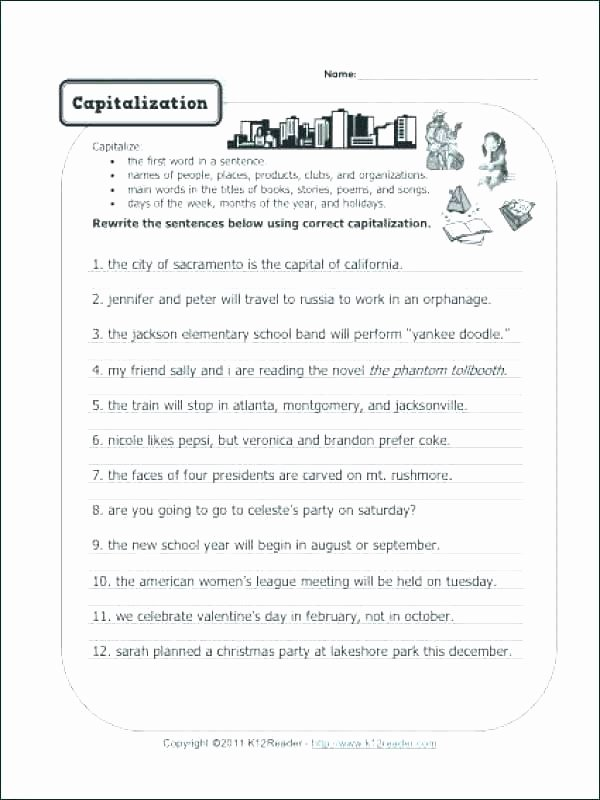 Editing Sentences 3rd Grade Sentence Correction Worksheets – Slaterengineering