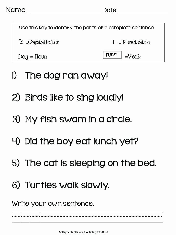 Editing Sentences Worksheet Number Sentence Worksheets 2nd Grade
