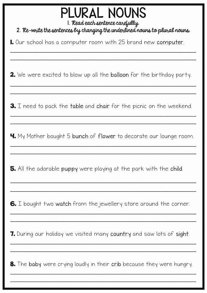 Editing Sentences Worksheet Reading and Writing Worksheets