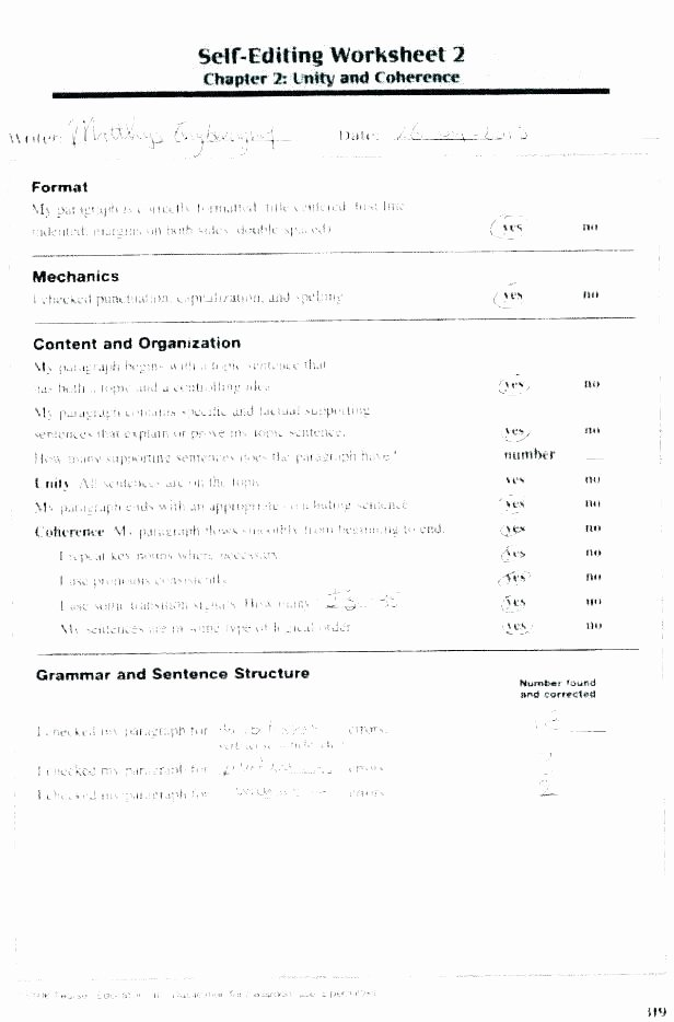 Editing Worksheet 3rd Grade Free Editing Worksheets for 3rd Grade – Onlineoutlet