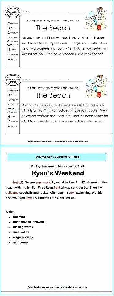 Editing Worksheets 2nd Grade Grade Reading Worksheets Printable High Proofreading