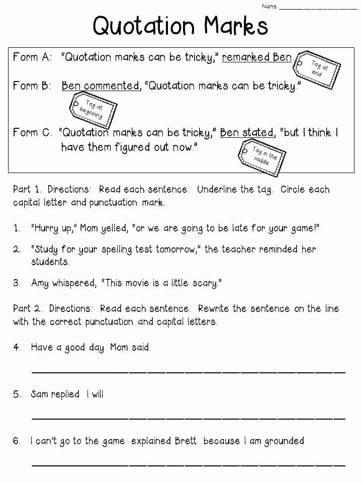 Editing Worksheets 2nd Grade Grammar Editing Practice Worksheets