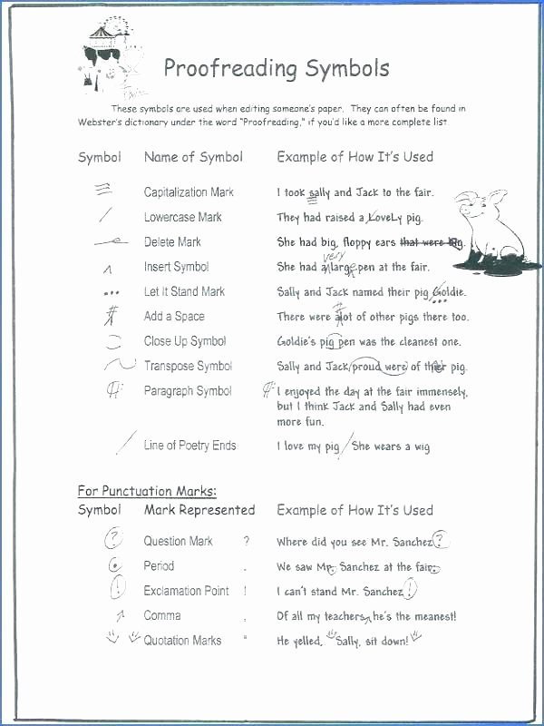 Editing Worksheets 3rd Grade Editing and Proofreading Worksheets