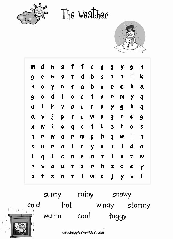 Ee Ea Ey Worksheets Esl for Kids Weather Worksheets éducation