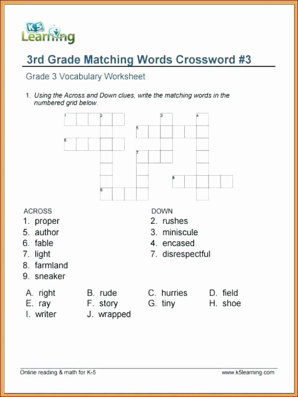 Eighth Grade Vocabulary Worksheets First Grade Vocabulary Worksheets 4