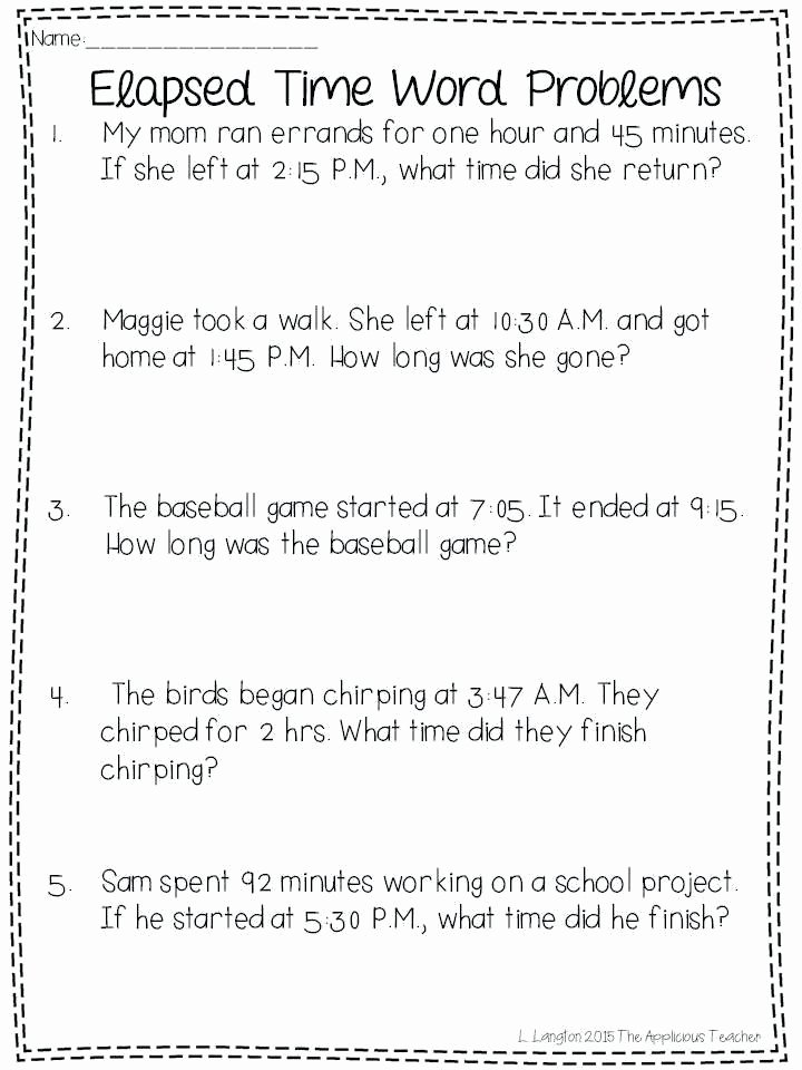 Elapsed Time 3rd Grade Worksheets Time Activities for 3rd Grade – Dufresneassociates