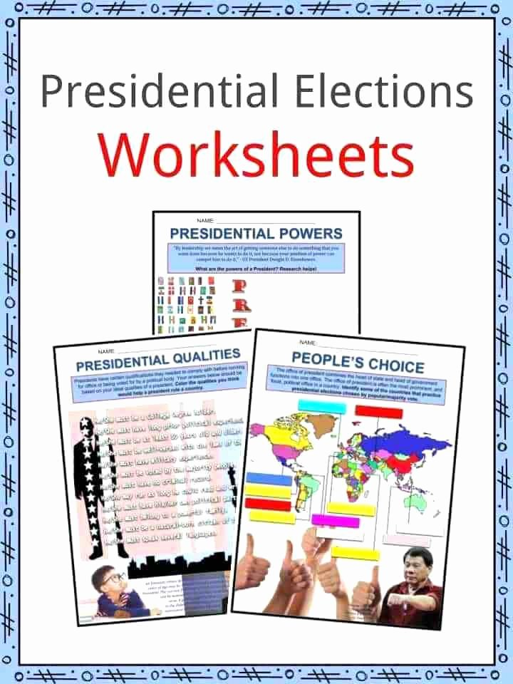 Election Worksheets for Elementary Students Election Worksheets Chapter 7 Section 2 Elections Worksheet