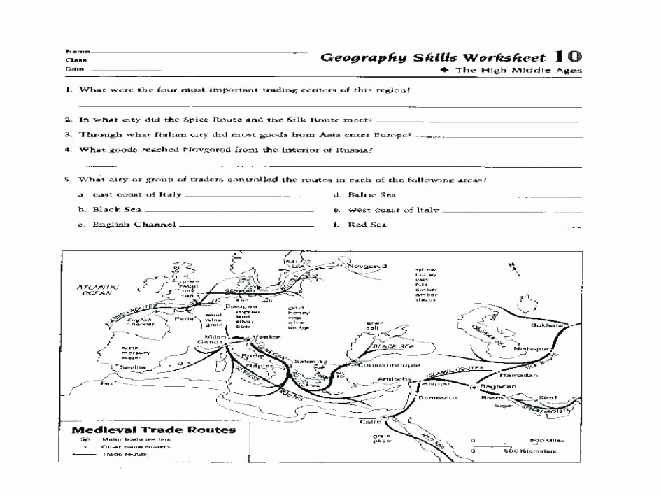 Elementary Map Skills Worksheets Fourth Grade Geography Worksheets