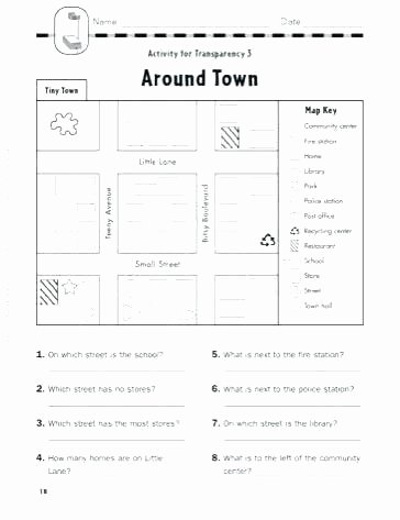 Elementary Map Skills Worksheets Map Practice Worksheets