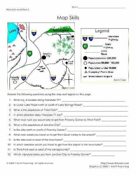 Elementary Map Skills Worksheets Map Worksheets for Kids