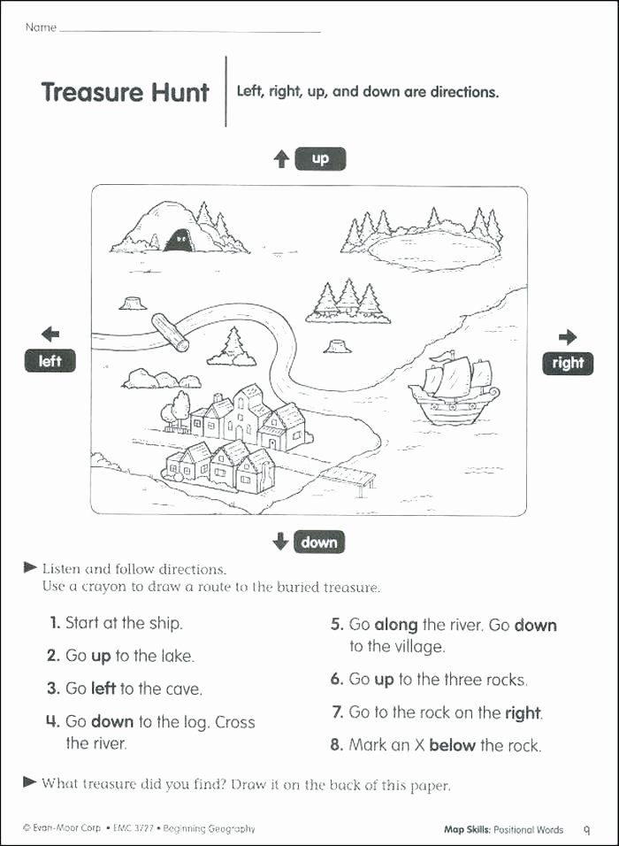Elementary Map Skills Worksheets Printable Map Skills Worksheets – Dstic