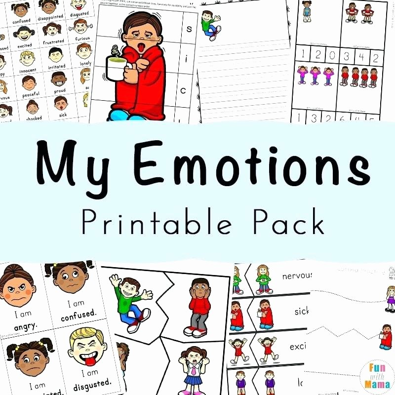 Emotions Worksheets for Preschoolers Feelings Activities Emotions Worksheets for Kids Fun with