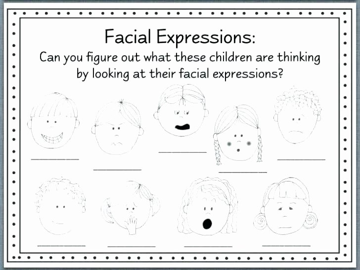 Emotions Worksheets for Preschoolers Feelings Worksheets for Kindergarten