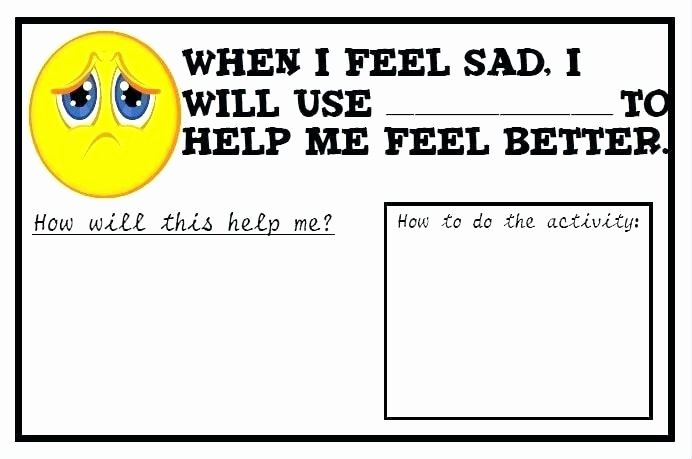 Emotions Worksheets for Preschoolers Pin Feelings Worksheets for Teens Free Printable Cake A