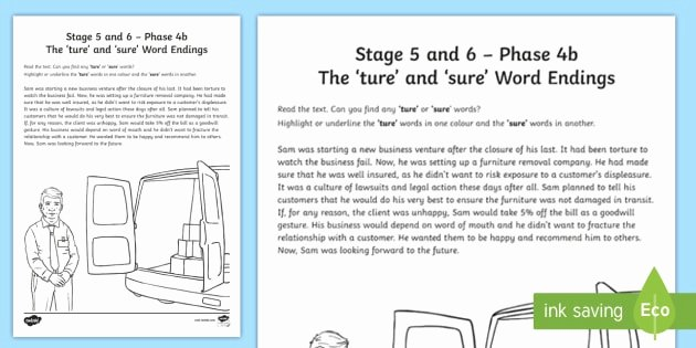Ending sound Worksheet Best Of Ture & Sure sound Worksheet Ni Phase 4b Phonics