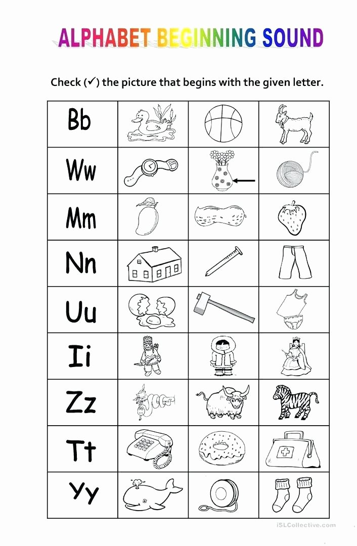 Ending sound Worksheet New Alphabet and sounds Worksheets