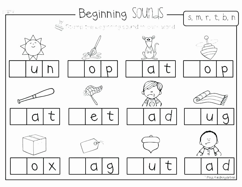 Ending sound Worksheets Awesome Free Phonics Worksheets for Kindergarten Free Christmas