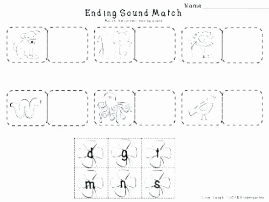 Ending sound Worksheets Free Beginning sounds Worksheets for Kindergarten Pdf
