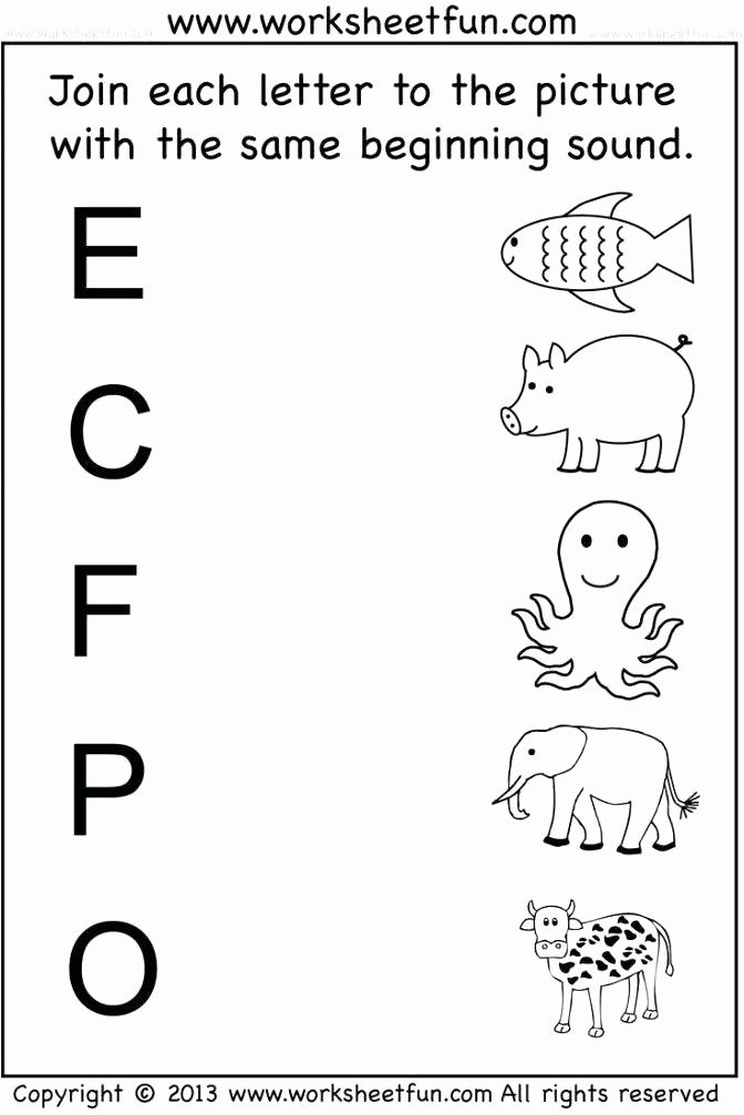 Ending sound Worksheets Free Beginning sounds Worksheets for Pre K sound Activities