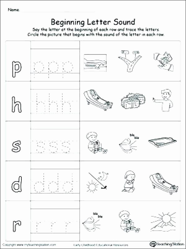 Ending sound Worksheets Lovely Letter sound Worksheets Kindergarten
