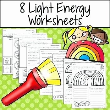 Energy Worksheets for 3rd Grade Light Energy Worksheets and for Review and assessment Light