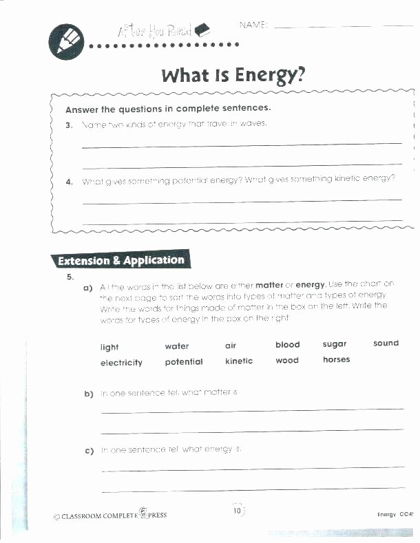 Energy Worksheets for 3rd Grade Resources Science Worksheets force Motion and Energy 3rd Grade