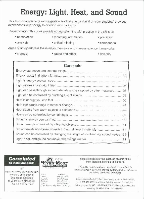 Energy Worksheets for 3rd Grade thermal Energy Worksheets 5th Grade
