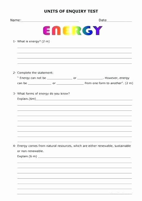 Energy Worksheets for 3rd Grade Worksheets Energy – butterbeebetty