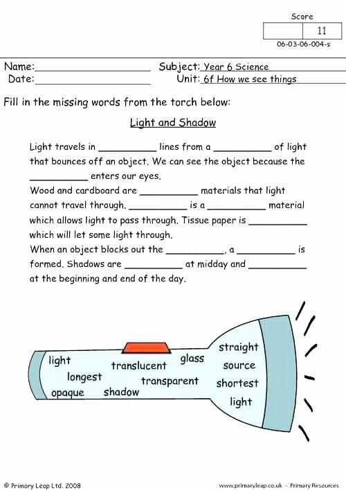 Energy Worksheets for 4th Grade Light Energy Worksheets Grade Motion and Design 5th