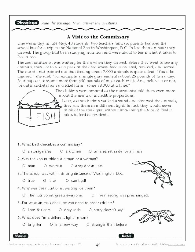 English Worksheets for 8th Grade Worksheets Year 7 Activities Grade 8 Prehension for