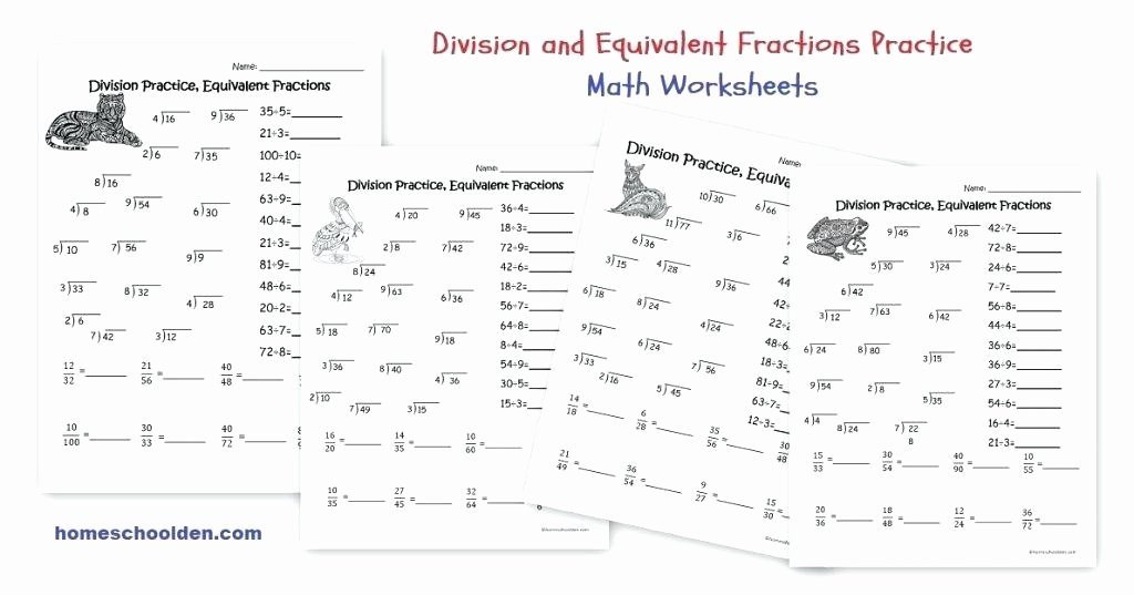 Equivalent Fraction Worksheets 5th Grade Division Practice Worksheets