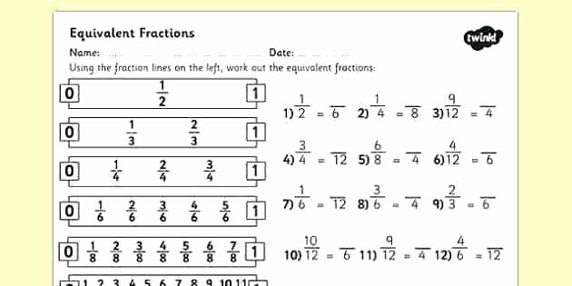 Equivalent Fraction Worksheets 5th Grade Mon Denominators and Equivalent Fractions Worksheets Free