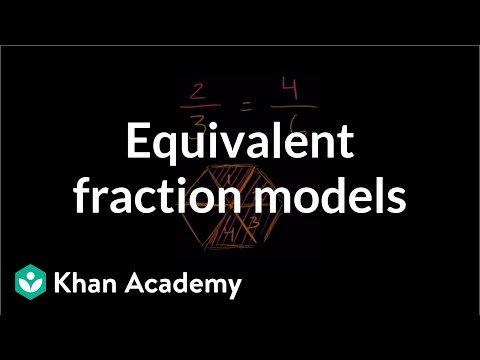 Equivalent Fractions Coloring Worksheet Equivalent Fraction Models Video