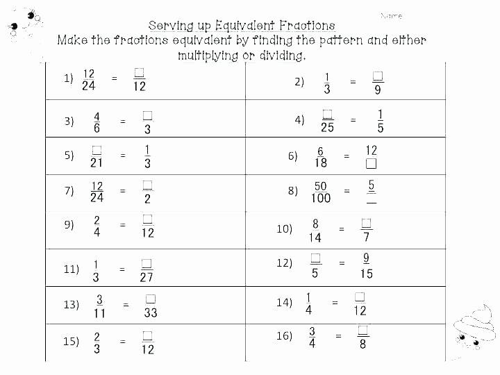 Equivalent Fractions Coloring Worksheet Fraction Worksheets for Kindergarten